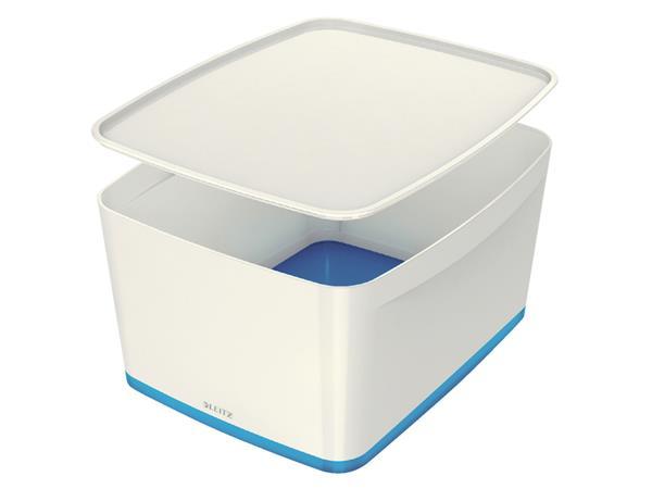 Opbergbox Leitz MyBox groot blauw/wit