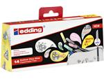 Fineliner edding 1200 1mm pastel assorti set à 12+2 gratis