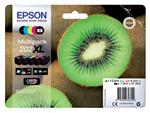 Inktcartridge Epson 202XL T02G74 zwart + 3 kleuren + foto zwart