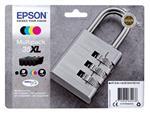 Inktcartridge Epson 35XL T3596 zwart + 3 kleuren HC