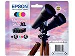 Inktcartridge Epson 502XL T02W6 zwart + 3 kleuren HC