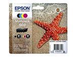 Inktcartridge Epson 603 T03U6 zwart + 3 kleuren