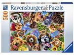 Puzzel Ravensburger Dierenselfi 500 stukjes