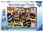 Puzzel Ravensburger prikbord raceautos 100 stukjes