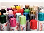 Verfspuitbus edding 5200 permanent spray mat verkeersrood