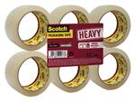 Verpakkingstape Scotch Heavy 50mmx66m transparant 6 rollen