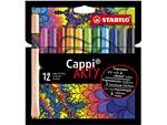 Viltstift STABILO Cappi 168/12-1-20 etui à 12 kleuren