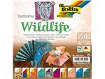 Vouwblaadjes Folia dubbelzijdig Wildlife 15x15cm