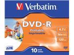 DVD-R Verbatim 4.7GB 16x printable jewelcase