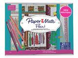 Fineliner Paper Mate Flair set à 20 kleuren + kleurboek
