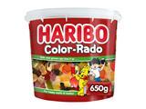 Haribo Color-Rado wine gum + engelse drop 650gram