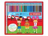 Kleurpotloden Stabilo Color 979 blik à 24 stuks assorti