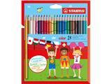 Kleurpotloden Stabilo Color 979 blister à 24 stuks assorti