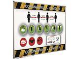 Preventiebord Corona maatregelen Nederlandstalig 60x90cm