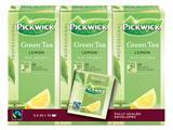 Thee Pickwick Fair Trade groen lemon 25 zakjes van 1.5gr