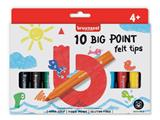 Viltstift Bruynzeel Kids big point blister à 10 stuks assorti