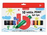 Viltstift Bruynzeel Kids mega point blister à 10 stuks assorti