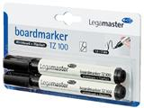 Viltstift Legamaster TZ100 whiteboard rond zwart 1.5-3mm 2st
