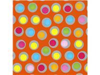 Apparaatrol brightsummer bolletjes oranje 200mx50cm