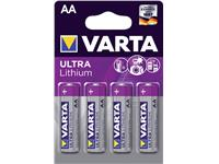 Batterij Varta Ultra lithium 4xAA