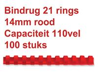 BINDRUG GBC 14MM 21RINGS A4 ROOD