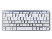 Ergonomisch toetsenbord R-Go Tools Compact Qwerty zilver-wit