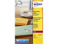 Etiket Avery L7562-25 99.1x33.9mm transparant 400stuks