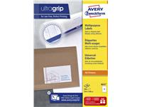 Etiket Avery Zweckform 3655 210x148mm A5 wit 200stuks