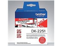 LABEL ETIKET BROTHER DK-22251 62MMX15.24M ZW/RD