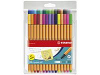 FINELINER STABILO POINT 88 ASS MET 5ST NEON