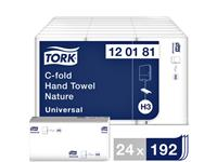 Handdoek Tork H3 120181 Universal C 1laags 25x31cm 24x192st