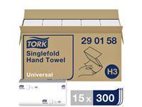 VULLING TORK H3 HANDDOEK SINGLEFOLD 1LAAGS 15X300ST 290158