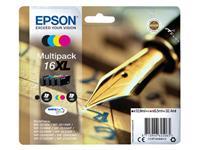 INKCARTRIDGE EPSON 16XL T1636 ZWART + 3 KLEUREN