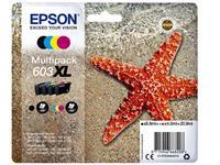 INKCARTRIDGE EPSON 603XL T03A6 ZWART + 3 KLEUREN