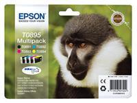 Inktcartridge Epson T0895 zwart + 3 kleuren