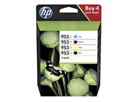 Inkcartridge HP 3HZ52AE 953XL zwart + 3 kleuren HC