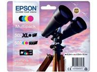 INKCARTRIDGE EPSON 502XL 502 T02W9 ZWART + 3 KLEUREN