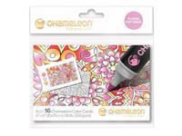 Kleurkaart Chameleon Embossed bloemenpatroon