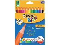 Kleurpotloden Bic Kids evolution ecolutions ass blister à 18st