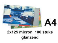 Lamineerhoes Apex A4 2x125micron 100stuks