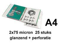 Lamineerhoes GBC A4+ 4-gaats 2x75micron 25stuks