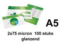 LAMINEERHOES GBC A5 2X75MICRON GLANS