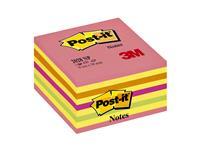 Memoblok 3M Post-it 2028 76x76mm kubus neon kleuren