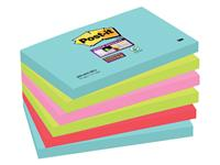 Memoblok 3M Post-it 655 Super Sticky 76x127mm Miami