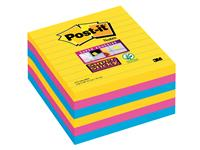 Memoblok 3M Post-it 675 Super Sticky 101x101mm lijn Rio