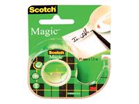 Plakband Scotch Magic 810 19mmx7.5m onzichtbaar + afroller