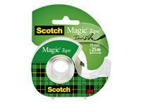 PLAKBAND 3M SCOTCH 19MMX25M MET TAPEHOUDER MAGIC