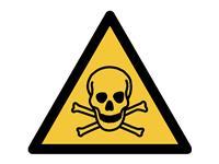 Pictogram Tarifold waarschuwing giftig materiaal 200x176mm
