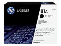 TONERCARTRIDGE HP CF281A 81A 10.5K ZWART