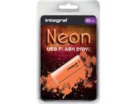 USB-STICK INTEGRAL FD 32GB NEON ORANJE